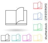 flip through a book multi color ...