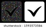 flare mesh approve box icon...