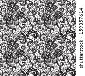 lace black seamless pattern...
