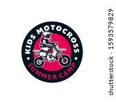 kids motocross summer camp logo ...   Shutterstock .eps vector #1593579829