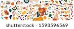 decorative abstract horizontal... | Shutterstock .eps vector #1593596569