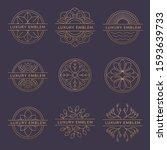graceful floral monogram design ...   Shutterstock .eps vector #1593639733