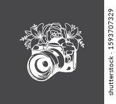 beautiful floral cut file...   Shutterstock .eps vector #1593707329