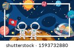 border template with space...   Shutterstock .eps vector #1593732880