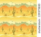 seamless pattern with desert... | Shutterstock .eps vector #159375830