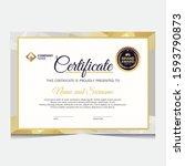 elegant gold diploma... | Shutterstock .eps vector #1593790873