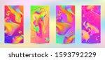 trendy creative vector space... | Shutterstock .eps vector #1593792229