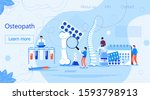 osteopath practice.... | Shutterstock .eps vector #1593798913