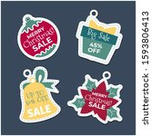 happy merry christmas sale tag...   Shutterstock .eps vector #1593806413