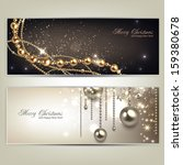 elegant christmas banners with... | Shutterstock .eps vector #159380678
