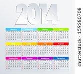 vector calendar 2014 in english | Shutterstock .eps vector #159380708