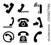 telephone icon isolated sign...