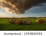 Rural Landscape With Stormy...