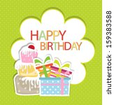birthday card | Shutterstock .eps vector #159383588