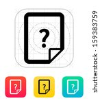 help and faq file icon. vector...   Shutterstock .eps vector #159383759
