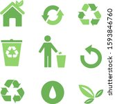 ecology vector icons set for... | Shutterstock .eps vector #1593846760