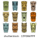 Tribal Masks Of Idols And...