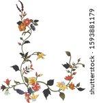 the set of spring flowers.... | Shutterstock .eps vector #1593881179