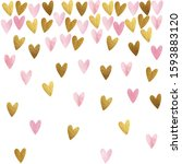 watercolor st. valentines day...   Shutterstock . vector #1593883120