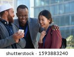 diverse business people using...   Shutterstock . vector #1593883240