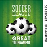 soccer design over green ... | Shutterstock .eps vector #159389630