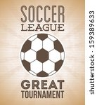 soccer design over vintage ...   Shutterstock .eps vector #159389633