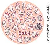 Baby Icons In A Circle  Set Of...
