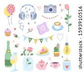 romantic vector illustrations... | Shutterstock .eps vector #1593910516