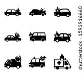 fire car icon isolated sign... | Shutterstock .eps vector #1593916660
