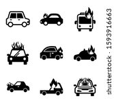 fire car icon isolated sign... | Shutterstock .eps vector #1593916663