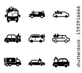 fire car icon isolated sign... | Shutterstock .eps vector #1593916666