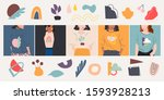 set of female portraits various ... | Shutterstock .eps vector #1593928213