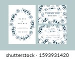 wedding invitation with... | Shutterstock .eps vector #1593931420