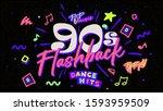 90s poster. nineties flashback. ...   Shutterstock .eps vector #1593959509