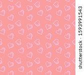 seamless  pattern of gentle... | Shutterstock . vector #1593991543
