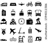 travel vector icon set. tourism ... | Shutterstock .eps vector #1594011586
