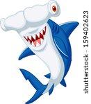 cute hammerhead shark cartoon | Shutterstock .eps vector #159402623