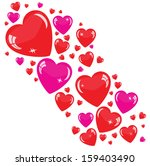 valentine's background with red ... | Shutterstock .eps vector #159403490