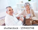 portrait of mature man and his... | Shutterstock . vector #159403748