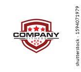 shield fitness logo design... | Shutterstock .eps vector #1594071979