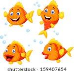 cute fish cartoon collection set | Shutterstock . vector #159407654