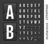 vector scoreboard letters and... | Shutterstock .eps vector #159409460