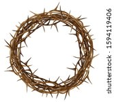 crown of thorns. color ... | Shutterstock .eps vector #1594119406