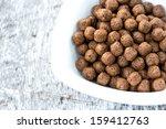 cereal in bowl top view | Shutterstock . vector #159412763