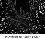 big city night scene rendered... | Shutterstock . vector #159414314