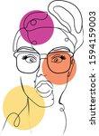 abstract  pop art  fashion ... | Shutterstock .eps vector #1594159003