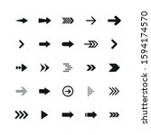 set of black arrows. collection ... | Shutterstock .eps vector #1594174570
