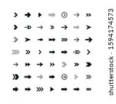 set of black arrows. collection ... | Shutterstock .eps vector #1594174573