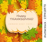 thanksgiving card | Shutterstock .eps vector #159418970