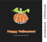 happy halloween | Shutterstock .eps vector #159421163